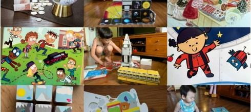 [揪團]7月書團:美國CreateOn磁力磚, 英文讀本,中英文童書,5吋地球儀存錢筒(限定色)