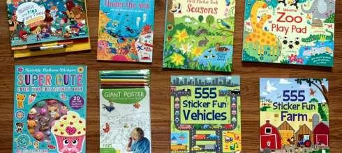媽媽必買|小孩打發時間好物:童話找找書,轉印貼紙書,閃閃氣球遊戲書,超大海報著色組