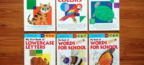 Kumon功文《My Book of 我的練習本》大集合 英文字彙、字母描寫、著色、運筆等