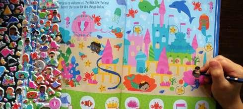 小孩很忙Mermaids and Narwhals泡泡貼紙遊戲書|Dragons Sticker Book龍傳說貼紙書
