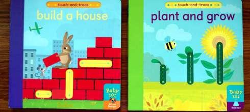 在家也可以蒙特梭利學習 Baby 101:plant and grow和build a house,搭配描線遊戲