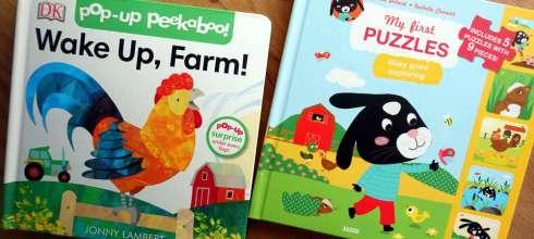 小孩的立體翻翻書 Jonny Lambert's Wake Up, Farm!,還有大尺寸拼圖故事書