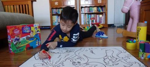 培養創造力與專注力|英國Little Brian水彩棒塗鴉地板拼圖 |獨一無二的拼圖