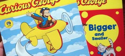 美國公視童書:因果關係概念的Curious George Before and After,還有認識對比及比較級