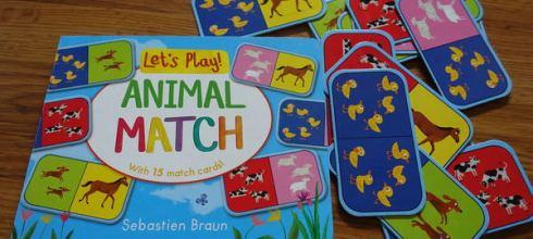 [蒙特梭利書單]有趣的動物硬頁遊戲書●Let's Play! Animal Match/Snap●