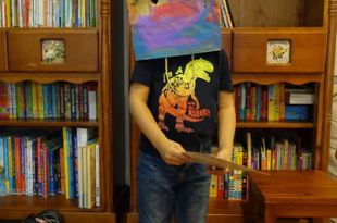 [動手做好快樂-3y8m] 同大爺萬聖節美術教室●DIY紙袋面具●含書單及DVD建議