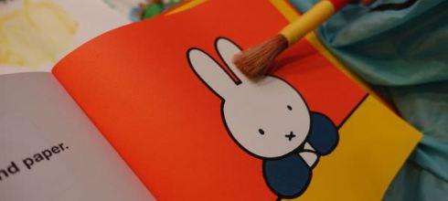 替愛畫畫的孩子準備的●miffy the artist●我是米菲兔小小藝術家