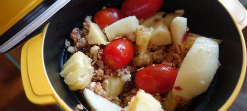 熱熱天增加孩子胃口的小食●脆脆的橄欖油拌水果麥片●還有油醋拌香菇玉米筍