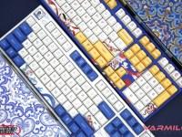 Varmilo 阿米洛中國娘第3波「鴛鴦娘」主題鍵盤,2支鍵盤拼成鴛鴦情侶鍵盤