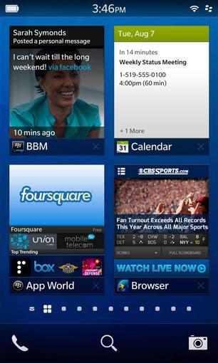 Imagen del nuevo sistema operativo BlackBerry 10.