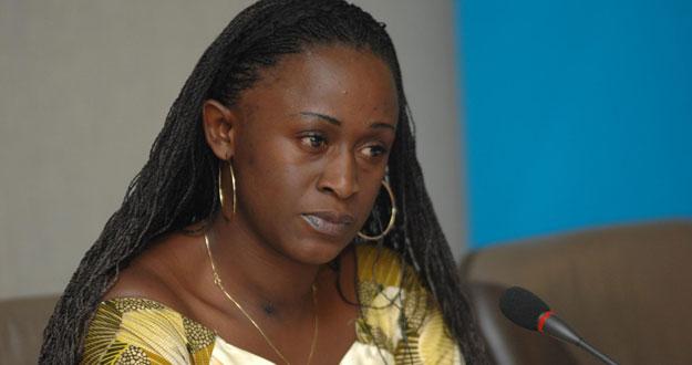 Caddy Adzuba, periodista congoleña de radio Okapi (ONU).