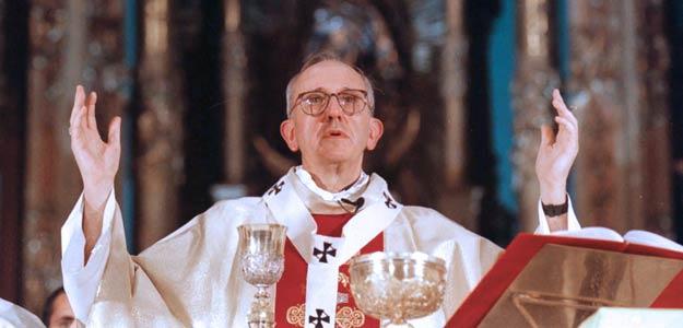 Bergoglio, durante una misa en Buenos Aires.