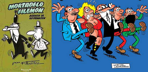 La primera versión de 'Mortadelo y Filemón' y los protagonistas del cómic