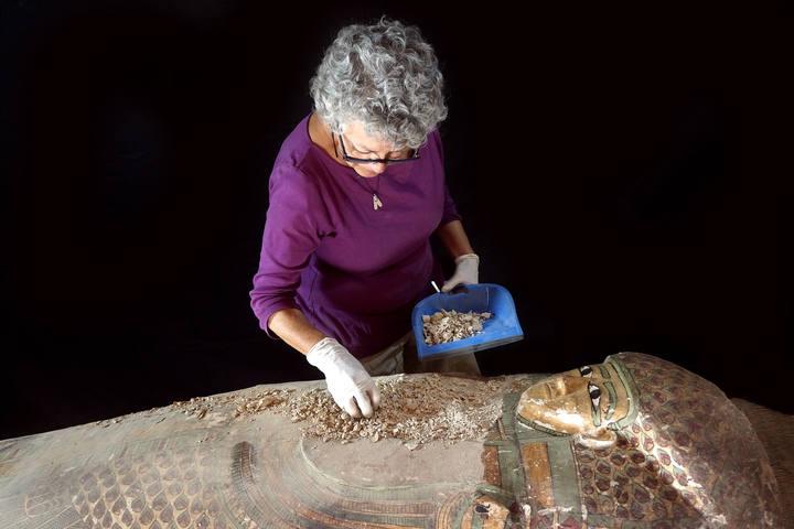 El sarcófago se encontraba intacto.