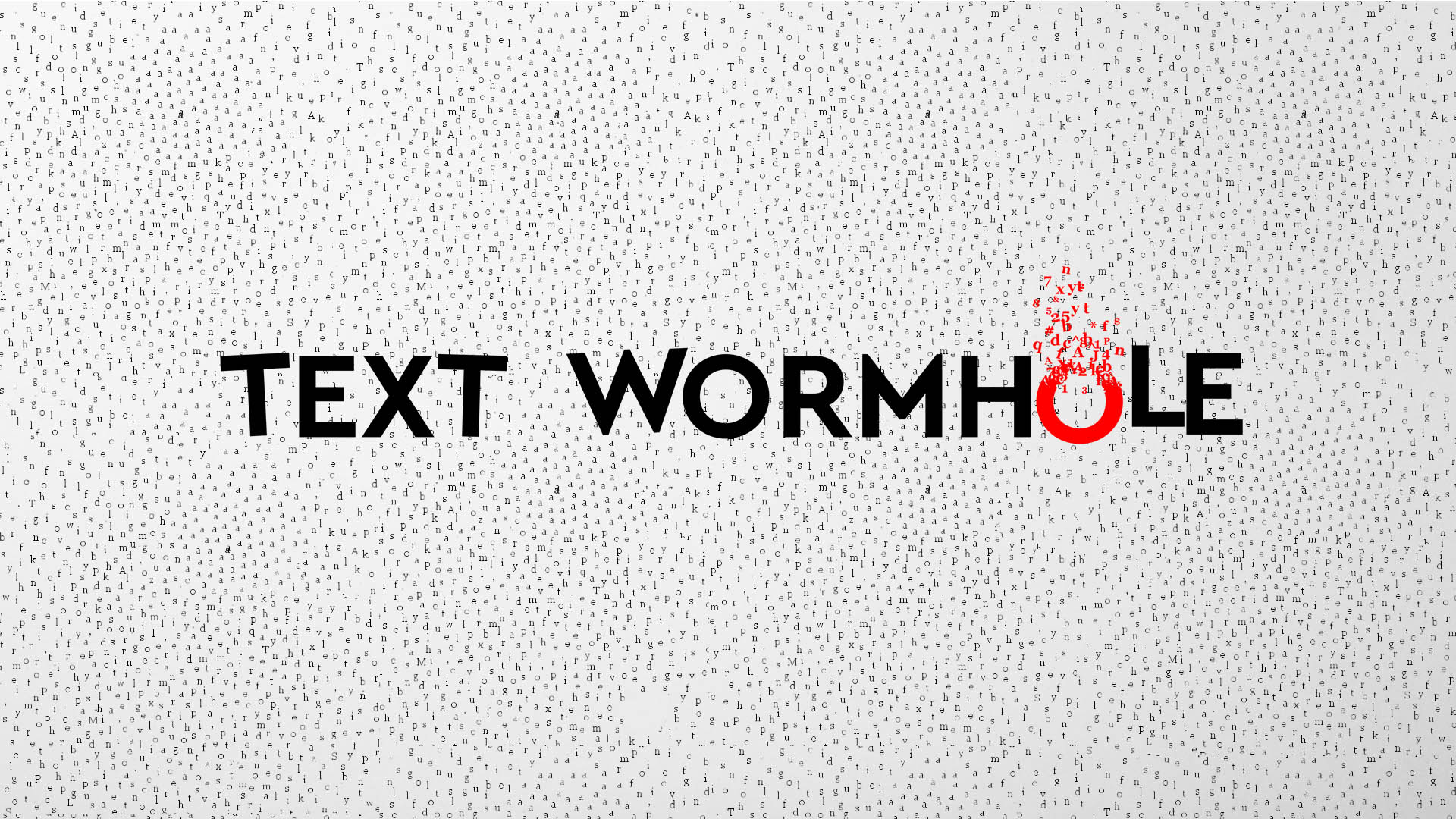 Text Wormhole By Elknightstudio
