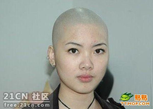 Girl With And Without Hair 5 Pics