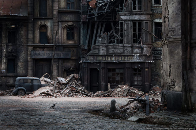 Pueblo alemán durante la Segunda Guerra Mundial para la película