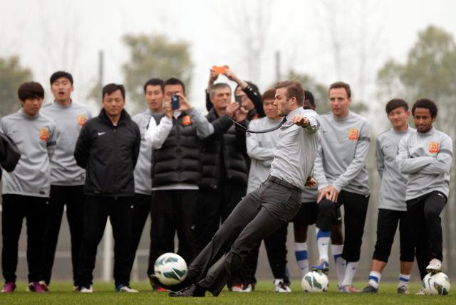 Not David Beckham's Best Moment