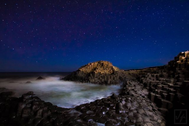 Midnight At The Giants Causeway