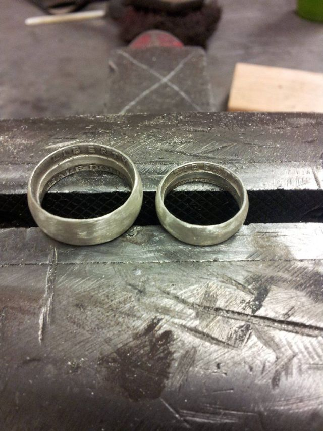 """Unique Hand-Made """"Coin Rings"""""""