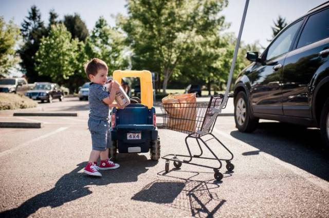 Creative Mother Takes Cool Pictures Of Her Toddler Dealing With Adult Situations