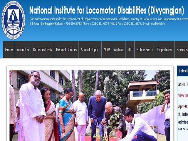 National Institute for Locomotor Disabilities Recruitment 2021