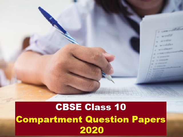 cbse class10 compartment papers 2020