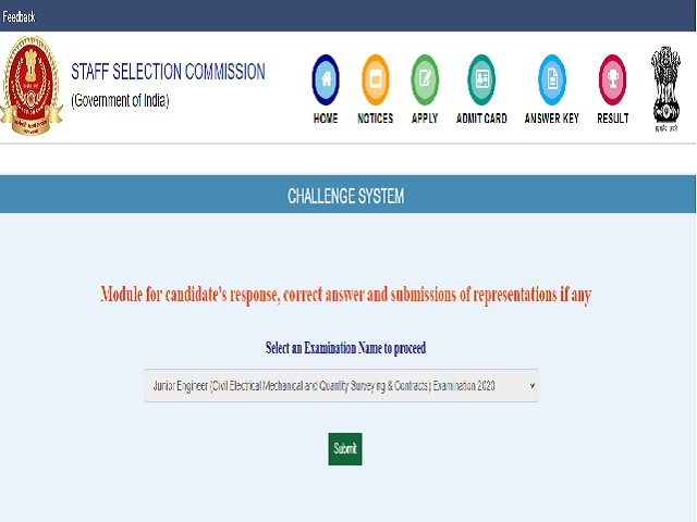 SSC JE Tier 1 Answer Key 2021 Released @ssc.nic.in, Check Provisional Answer Key and Representation Link Here