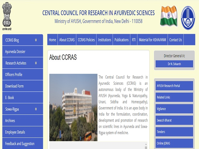 CCRAS Recruitment 2021, Walk in for 19 SRF, Consultant, DEO and Other Posts @ccras.nic.in