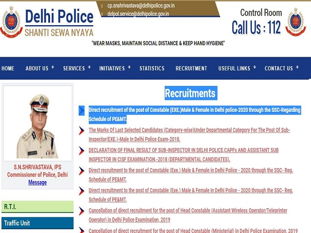 DP PE & MT from 28 June, Notice Out @delhipolice.nic.in