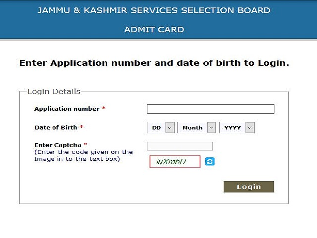 JKSSB Admit Card 2021 Out @jkssb.nic.in, Download SI, Depot Assistant, Class IV, Field Assistant and Other Posts Hall Ticket Here
