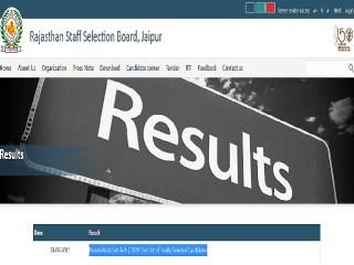 Download Lab Tech 2nd Final Selection List @rsmssb.rajasthan.gov.in