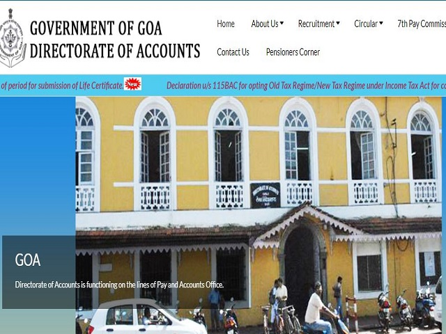 Apply Online for 109 Accountant Posts @accountsgoa.gov.in under Directorate of Accounts