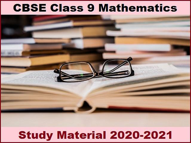 CBSE Class 9 Maths Study Material 2021-22