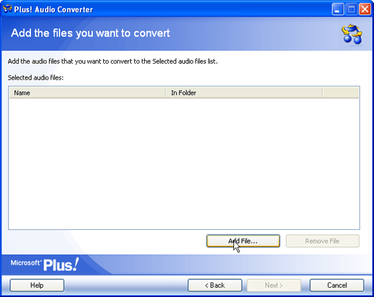 Audio Converter Add File