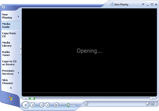 Windows Media Player Open