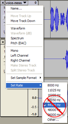 Changing Audio Sample Rate in Audacity – Jake Ludington