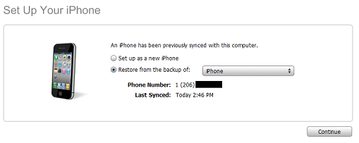 Transfer data to a new iPhone