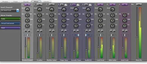 Mixcraft Mixer Interface