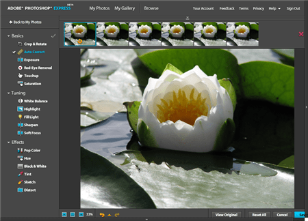 Photoshop Express Online Photo Editing