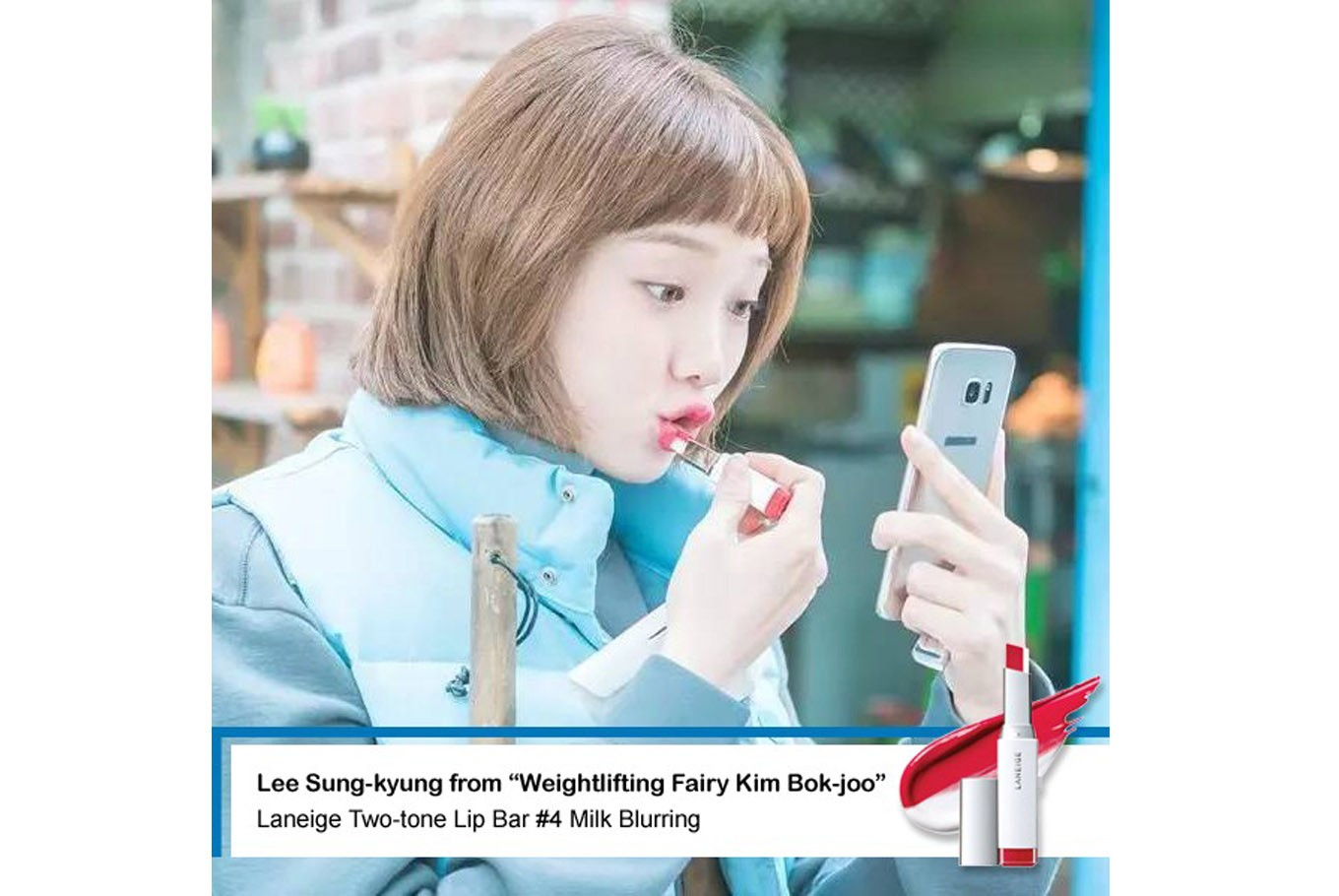 Image result for weightlifting fairy kim bok joo laneige lipstick
