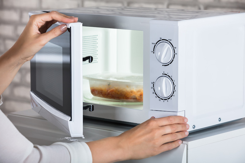 never heat in the microwave