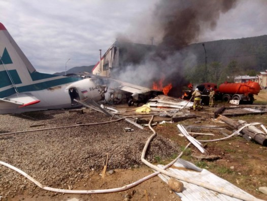 Two killed, seven injured as Russian plane makes emergency landing