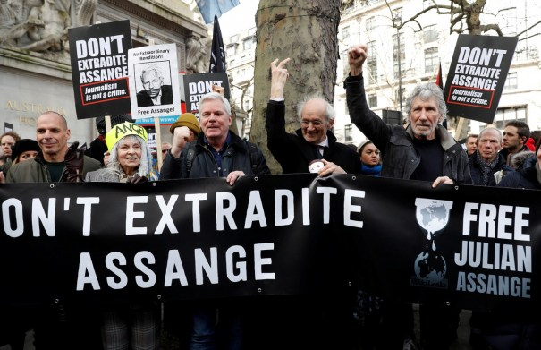 Pink Floyd co-founder joins Assange supporters in London protest march -  People - The Jakarta Post