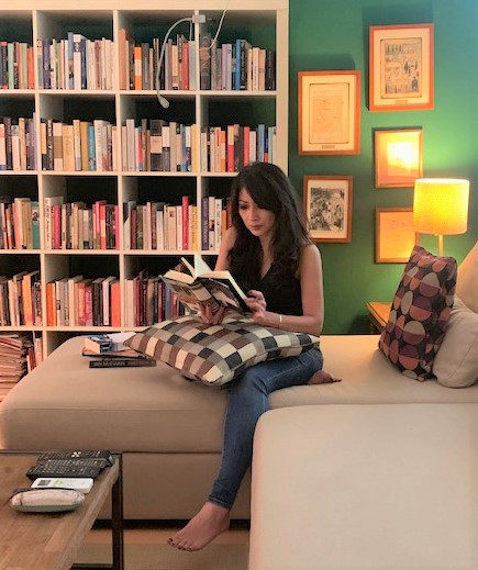 Reading room: Self-isolation has led to introspective moments for author Laksmi Pamuntjak.
