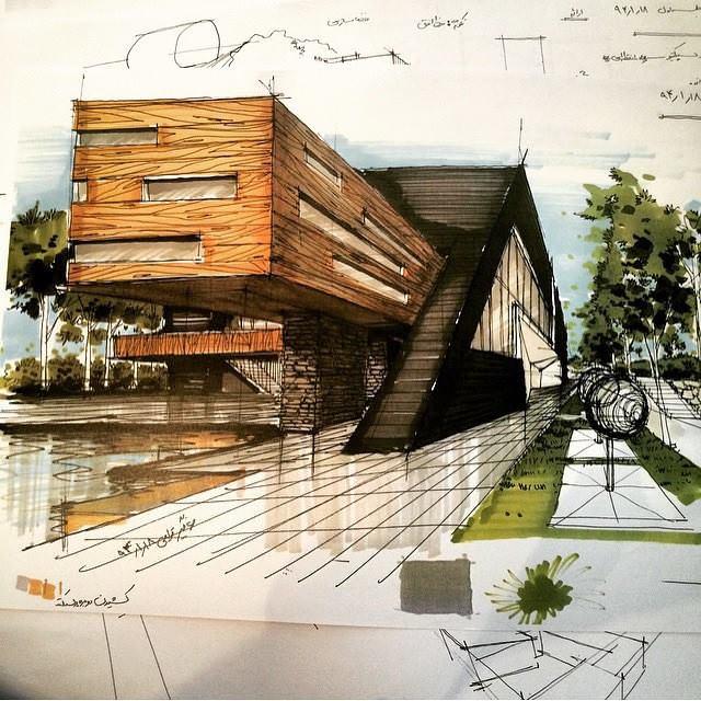 001建築設計師手稿作品