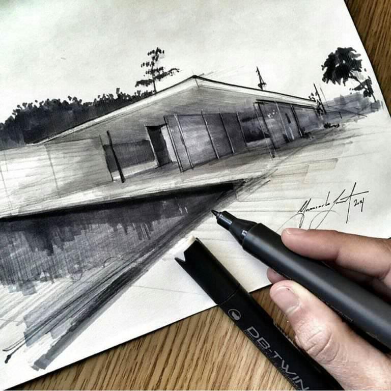 010建築設計師手稿作品
