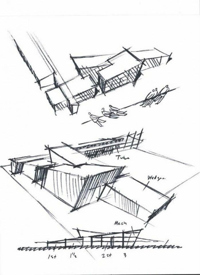 036建築設計師手稿作品