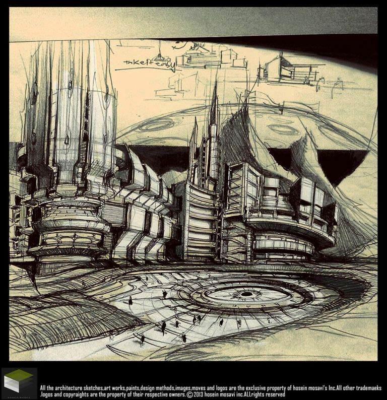 039建築設計師手稿作品