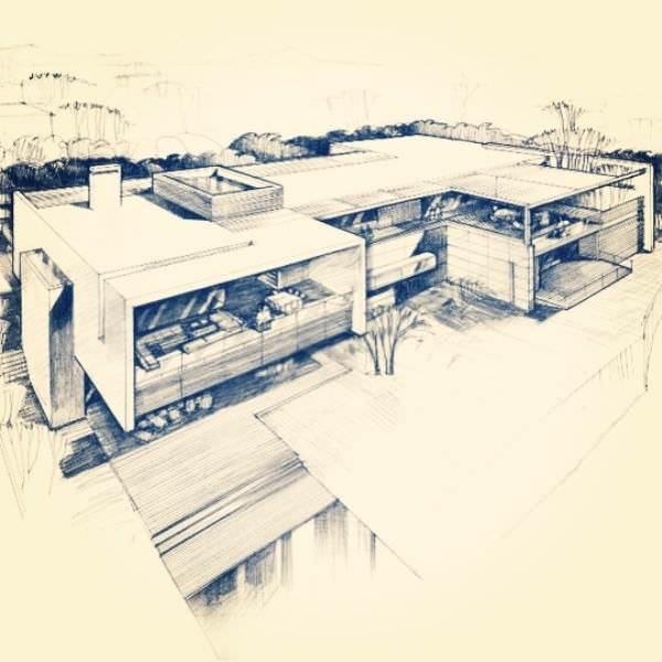 042建築設計師手稿作品